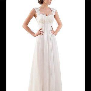 32797b0b00da Dresses & Skirts - Women's Sleeveless Lace Evening Wedding Dress
